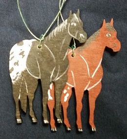 Small Appy Wooden Ornaments - Hand Painted*