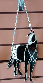 Stained Glass Black Appaloosa