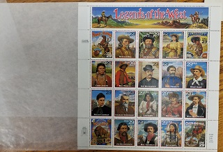 Legends of the West Stamps